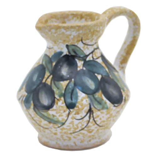 "Black Olive Mini Pitcher, 3"", 2.75 oz. by Abbiamo Tutto"
