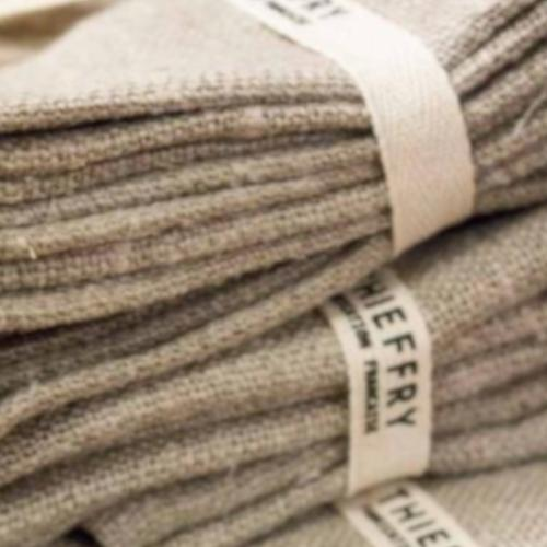 Linen Dish Towels, Set of 2 by Thieffry Freres & Cie