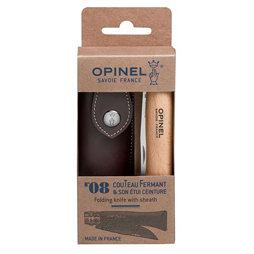 No. 08 Folding Knife with Sheath by Opinel
