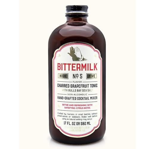Bittermilk No. 5 Mixer: Charred Grapefruit Tonic with Bulls Bay Sea Salt