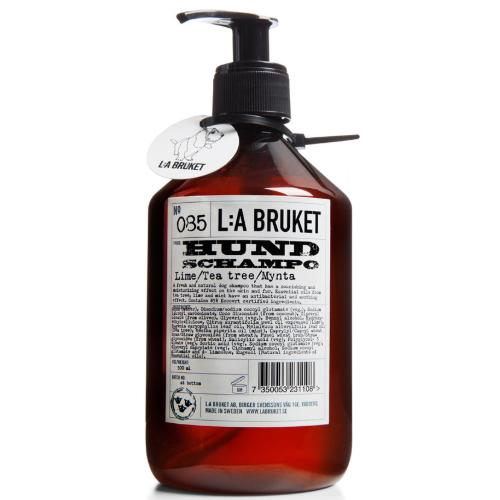 No. 085 Lime/Tea Tree/Mint Dog Hund Shampoo by L:A Bruket
