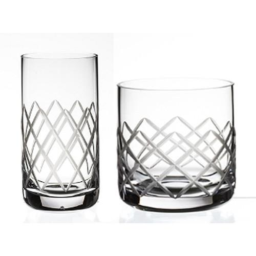 Rosehill Diamond Cut Glassware