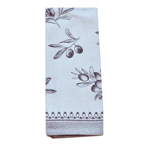 Classic Olive Cotton Kitchen Towel, 31