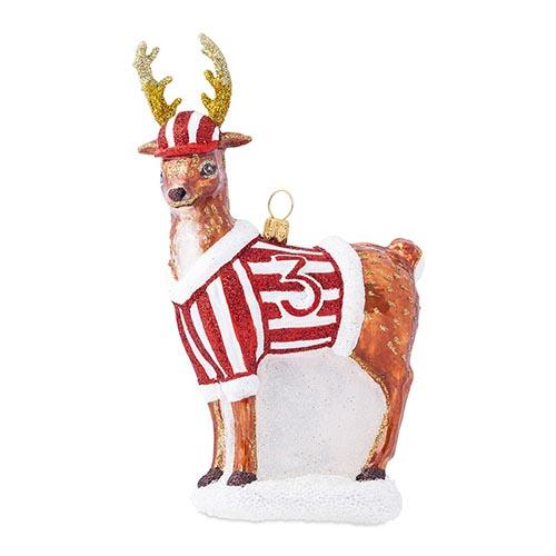 Country Estate Reindeer Games Donner the Reindeer Glass Ornament by Juliska