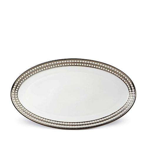Perlee Platinum Oval Platter, Large by L'Objet