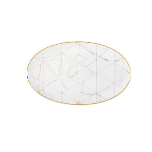 Carrara Oval Platter by Coline Le Corre for Vista Alegre