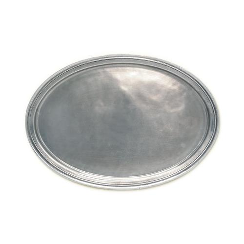 Oval X-Large Tray by Match Pewter