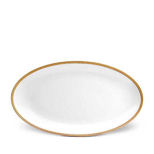 Soie Tressee Gold Oval Platter, Large by L'Objet