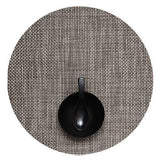 Chilewich: Basketweave Woven Vinyl Placemats Sets of 4 Grey, Round