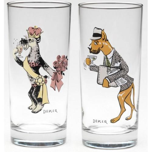 Bar Hounds Highball Glass by Depler