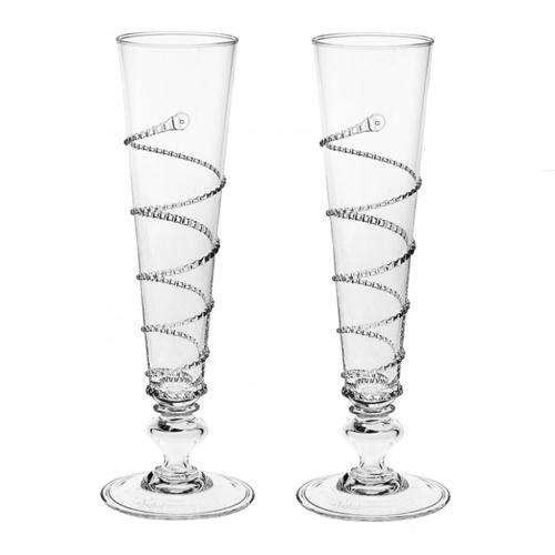 Amalia Pair of Flutes by Juliska