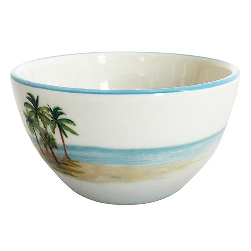 Palm Breezes Chowder/Soup/Salad/Dessert/Dipping Bowl 20 oz., Set of 6 by Abbiamo Tutto