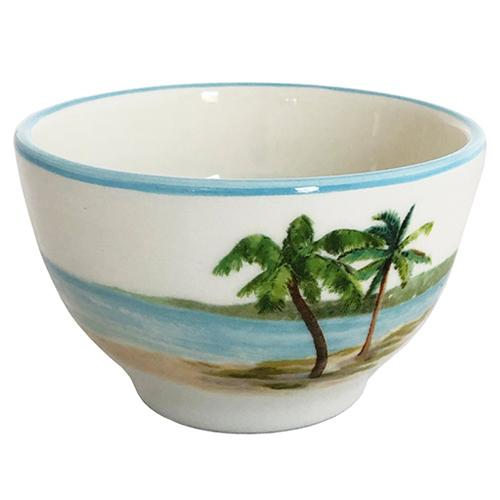 Palm Breezes Mini Soup/Salad/Dessert/Dipping Bowl 8 oz., Set of 6 by Abbiamo Tutto