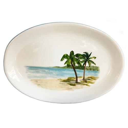"Palm Breezes Oval Platter, 12"" x 15"" by Abbiamo Tutto"