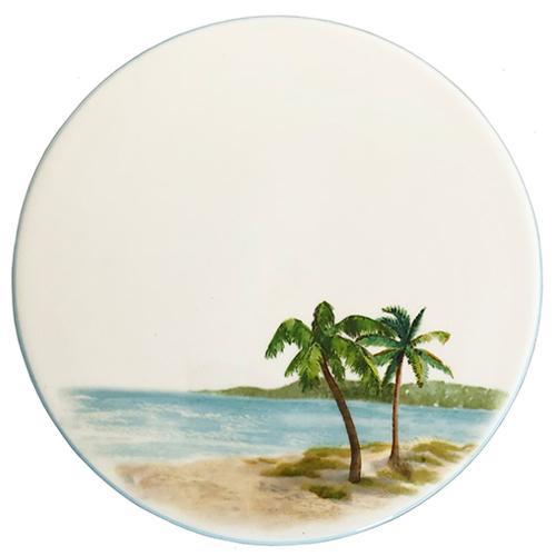 "Palm Breezes Trivet/Cheese Board, 8"", Set of 2 by Abbiamo Tutto"