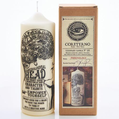 Phrenology Candle by Coreterno