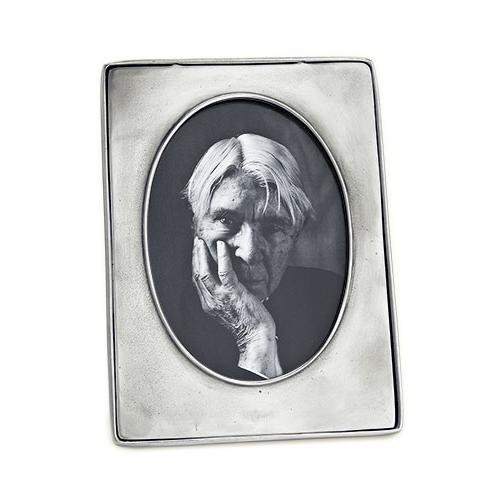 Piemonte Oval Frame, Large by Match Pewter