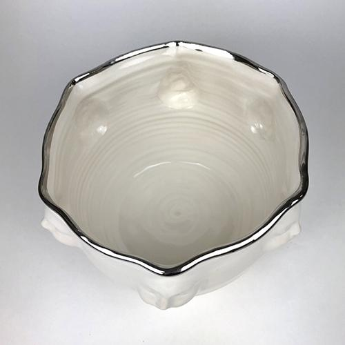 Viso Faces Platinum Large Bowl, 9