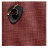 Chilewich: Basketweave Woven Vinyl Square Placemats set of 4 Red