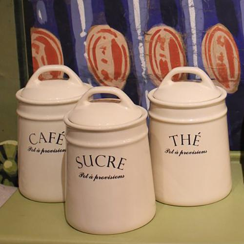 Pot a Provision Ceramic Kitchen Canisters CLEARANCE
