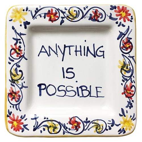 "Anything Is Possible Small Tray, 5"" x 5"" by Abbiamo Tutto"