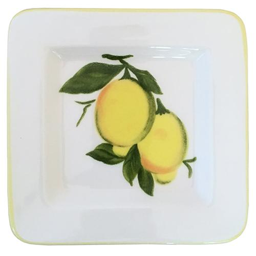 "Lemon Small Tray, 5"" x 5"" by Abbiamo Tutto"