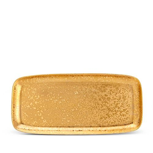 Alchimie Gold Rectangular Platter, Large by L'Objet