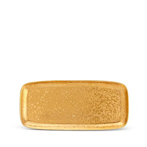 Alchimie Gold Rectangular Platter, Medium by L'Objet
