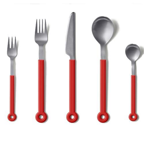 Ring 5 Piece Flatware Set by Mark Braun for Mono Germany