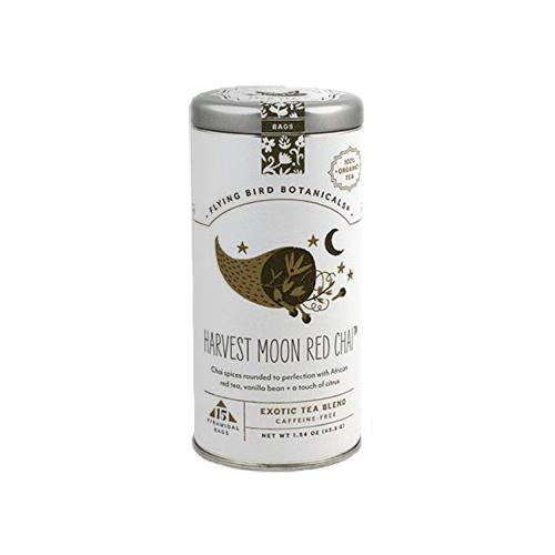 Harvest Moon Red Chai Tea, Tin of 15 Sachets by Flying Bird Botanicals