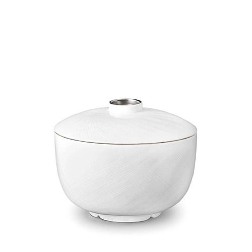 Han Platinum Rice Bowl with Lid by L'Objet