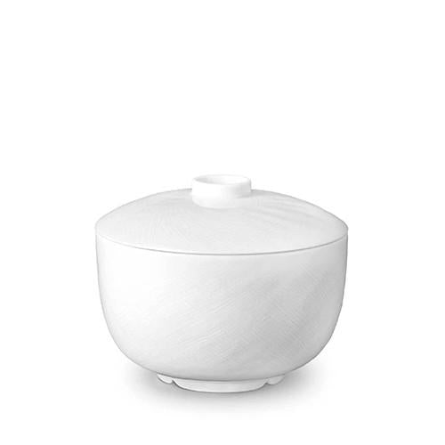 Han White Rice Bowl with Lid by L'Objet