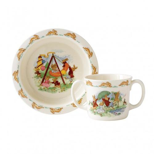 Bunnykins 2-Piece Baby Set (Bowl and Mug) by Royal Doulton