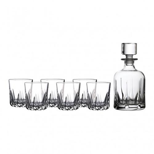 Mode Whiskey Decanter and 6 Glass Set by Royal Doulton
