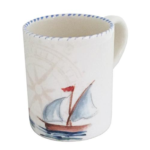Sailboat Mug with Handle, 15.5 oz., Set of 3 by Abbiamo Tutto