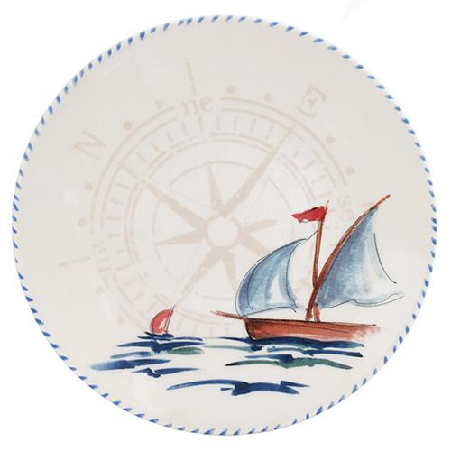 "Sailboat Dinner Plate, 10"", Set of 6 by Abbiamo Tutto"