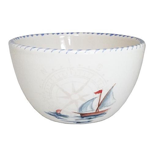 Sailboat Chowder/Soup/Salad/Dessert/Dipping Bowl, 20 oz., Set of 6 by Abbiamo Tutto