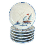 "Sailboat Canape Plate, 5.75"", Set of 6 by Abbiamo Tutto"