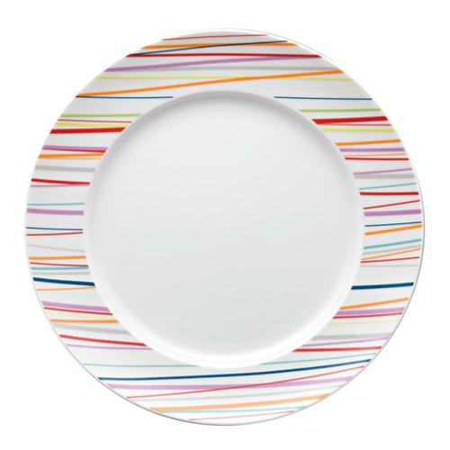Sunny Day Salad Plate, Stripes by Thomas