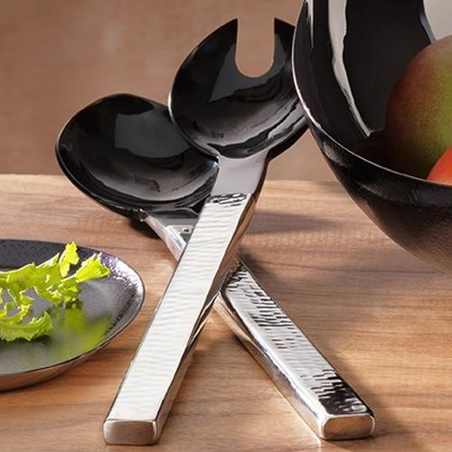 Valencia Salad Set with Buffalo Horn by Mary Jurek Design
