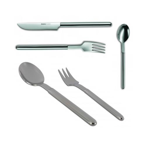 mono oval 5 Piece Flatware Set by Peter Raacke for Mono Germany