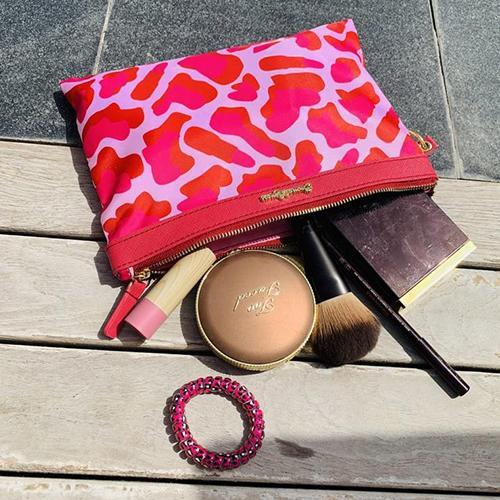 Pink Camo Travel & Make-up Bag Set by Emma Lomax London