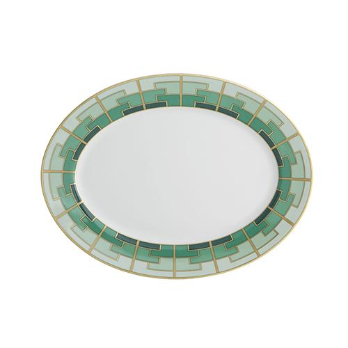 Emerald Medium Oval Platter by Vista Alegre