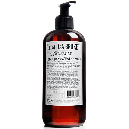 No. 104 Bergamot/Patchouli Hand & Body Wash by L:A Bruket