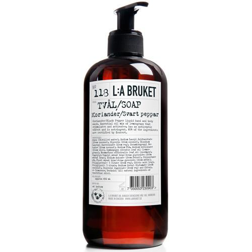 No. 118 Coriander/Black Pepper Hand & Body Wash by L:A Bruket