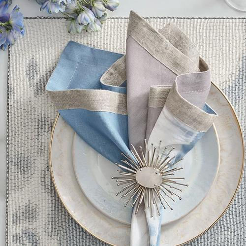 Solstice Napkins Set of 4 by Kim Seybert blue grey
