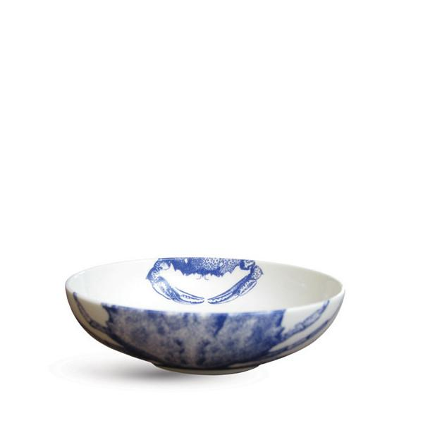 Blue Crabs Low Profile Soup Bowl by Caskata
