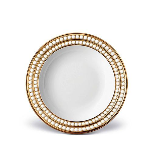 Perlee Gold Soup Plate by L'Objet