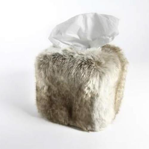 Faux Fur Tissue Box Cover by Evelyne Prelonge