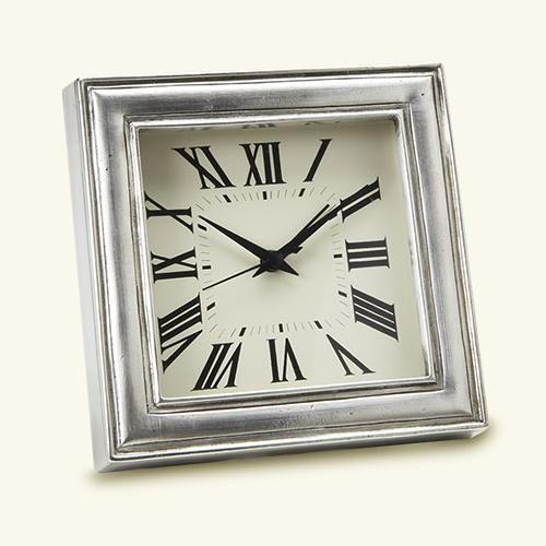 Square Alarm Clock by Match Pewter